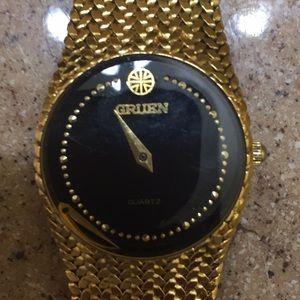Vintage Gruen gold watch